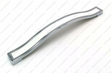 Ручка-скоба 160 мм хром+белый BTX-160-02/20 1