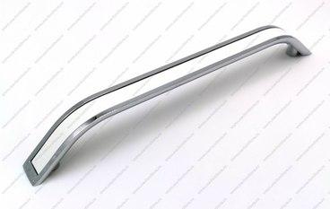 Ручка-скоба 160 мм хром+белый VLX-160-02/20 1