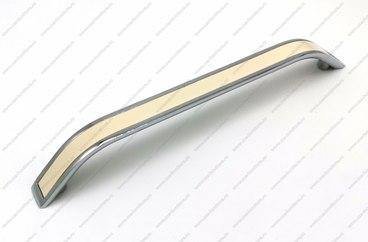 Ручка-скоба 192 мм хром+кремовый VLX-192-02/37 1