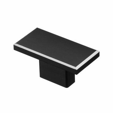 Ручка-кнопка 16 мм матовый черный S-4130-16 BL 1