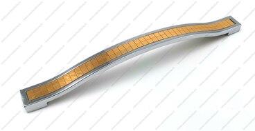 Ручка-скоба 192 мм хром со вставкой золото ЭКОНОМ E.BT-192-02/10 1