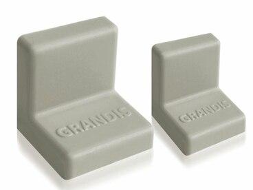Заглушка для уголка Grandis малый пластиковый серый 20х20 мм 1