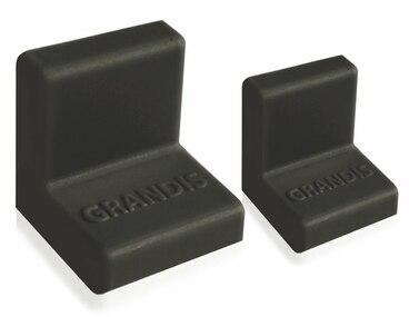 Заглушка для уголка Grandis малый пластиковый черный 20х20 мм 1