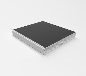 Цоколь ПВХ с уплотнителем 3200 мм Черный глянец №22 100 мм 1
