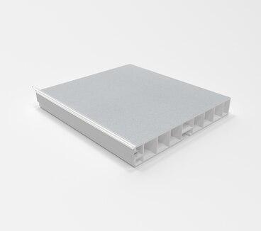 Цоколь ПВХ с уплотнителем 3200 мм Алюминий гладкий №8 100мм 1