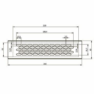 Вентиляционная решетка 60х245 Алюминий GTV KK-W60245-M0 2