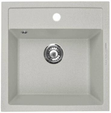 Кухонная мойка Respecta Cubo RC-51 серый жемчуг RC51.107 1