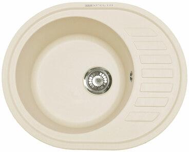 Кухонная мойка Respecta Eleps RE-62 сливочная ваниль RE62.108 1