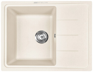 Кухонная мойка Respecta Tira RT-62 сливочная ваниль RT62.108 1