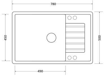 Кухонная мойка Respecta Tira RT-78 белый камень RT78.105 2
