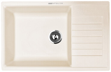 Кухонная мойка Respecta Tira RT-78 сливочная ваниль RT78.108 1