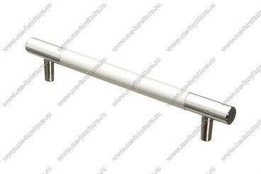 Ручка-рейлинг 96 мм алюминий + хром AL96 9