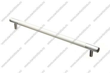 Ручка-рейлинг 256 мм алюминий + хром AL256 1