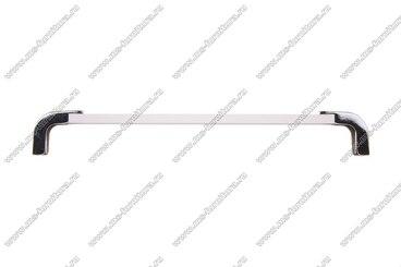 Ручка-рейлинг 192 мм алюминий+хром 14.356 4