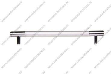 Ручка-рейлинг 192 мм алюминий + хром AL192 3