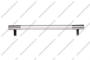 Ручка-рейлинг 160 мм алюминий + хром AL160 3
