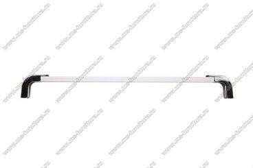 Ручка-рейлинг 224 мм алюминий+хром 14.357 3
