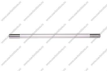 Ручка-рейлинг 224 мм алюминий + хром AL224 2