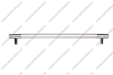 Ручка-рейлинг 224 мм алюминий + хром AL224 3