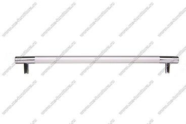 Ручка-рейлинг 96 мм алюминий + хром AL96 7