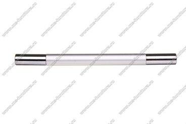 Ручка-рейлинг 96 мм алюминий + хром AL96 8