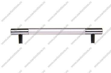 Ручка-рейлинг 96 мм алюминий + хром AL96 10