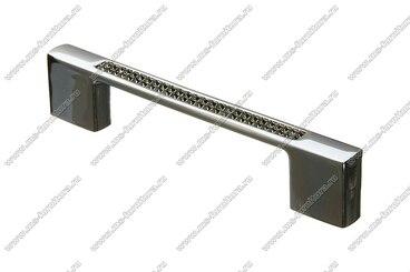 Ручка-скоба с черными стразами 96/128 мм хром 5379-06-06/011 1