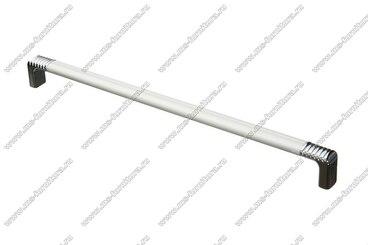 Ручка-рейлинг 256 мм алюминий+хром 14.134 1