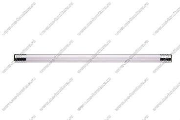 Ручка-рейлинг 224 мм алюминий+хром 14.133 2