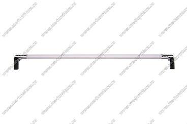 Ручка-рейлинг 224 мм алюминий+хром 14.133 3