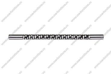 Ручка-рейлинг 224 мм хром+черный 14.343-011 2