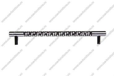 Ручка-рейлинг 224 мм хром+черный 14.343-011 3