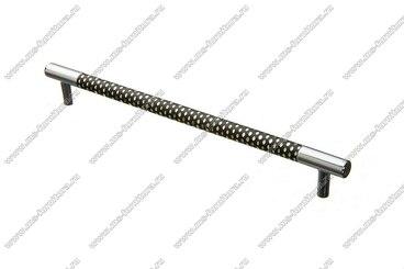 Ручка-рейлинг 224 мм хром+черный 14.343-011 1