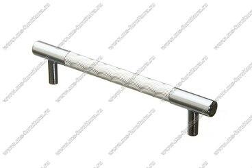 Ручка-рейлинг хром+хром 128 мм 14.256-06 1