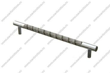 Ручка-рейлинг 192 мм хром+черный 14.258-011 1