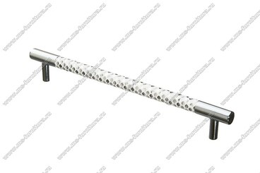 Ручка-рейлинг 192 мм хром+белый 14.342-013 1