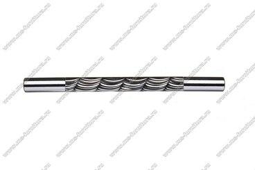 Ручка-рейлинг 128 мм хром+черный 14.256-011 2