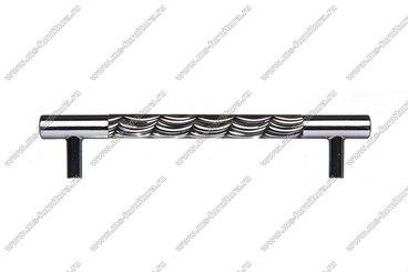 Ручка-рейлинг 128 мм хром+черный 14.256-011 3