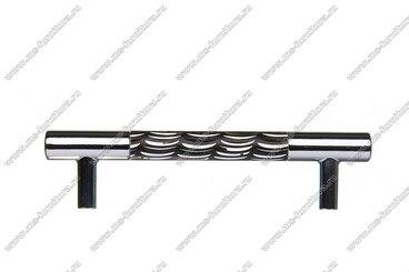 Ручка-рейлинг 96 мм хром+черный 14.255-011 3