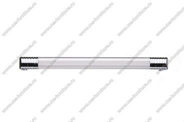 Ручка-рейлинг 160 мм алюминий+хром 14.131 2