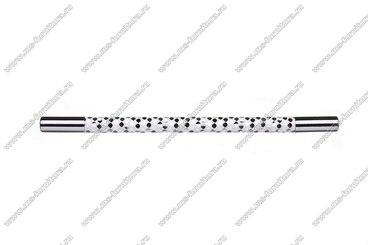 Ручка-рейлинг 192 мм хром+белый 14.342-013 2