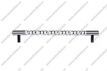 Ручка-рейлинг 192 мм хром+белый 14.342-013 3