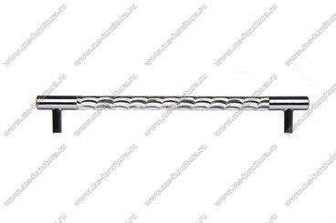 Ручка-рейлинг хром+хром 224 мм 14.258-06 3