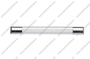 Ручка-рейлинг 128 мм алюминий+хром 14.130 2