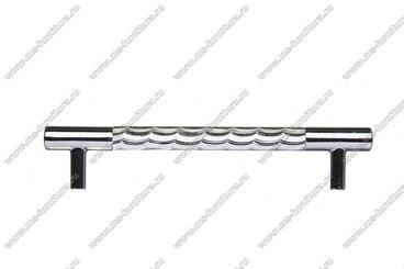 Ручка-рейлинг хром+хром 128 мм 14.256-06 3