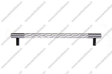 Ручка-рейлинг хром+хром 192 мм 14.258-06 3