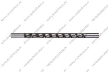 Ручка-рейлинг 192 мм хром+черный 14.258-011 2