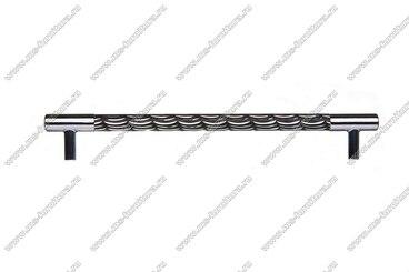 Ручка-рейлинг 192 мм хром+черный 14.258-011 3