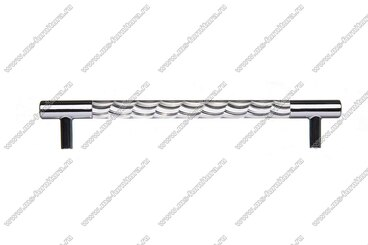 Ручка-рейлинг хром+хром 160 мм 14.257-06 3