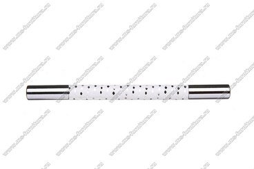 Ручка-рейлинг 96 мм белый+хром 14.339-013 2